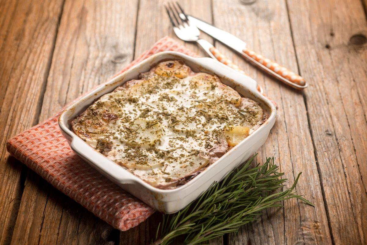 Parmigiana di patate senza besciamella