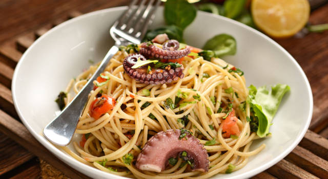 La pasta con polpo e olive è un primo piatto fantastico: ecco come prepararla