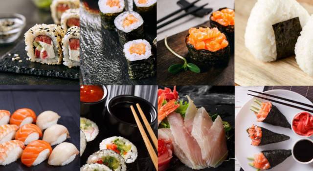 Scopriamo i vari tipi di sushi (con foto): differenze, caratteristiche e calorie
