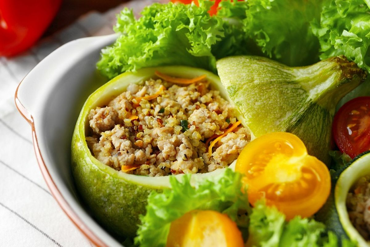 zucchine ripiene quinoa