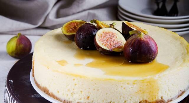 Buona e cremosa, ecco la ricetta della cheesecake ai fichi