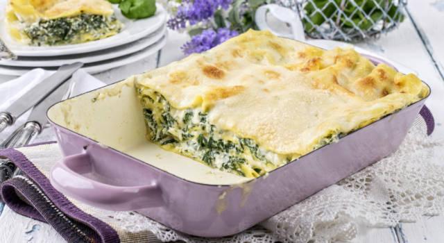 Un classico della cucina italiana direttamente a casa vostra: sono le lasagne ricotta e spinaci