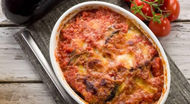 Parmigiana di melanzane light senza formaggio