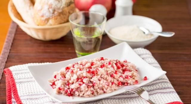 Risotto al melograno: un piatto ricco e colorato per le grandi occasioni!