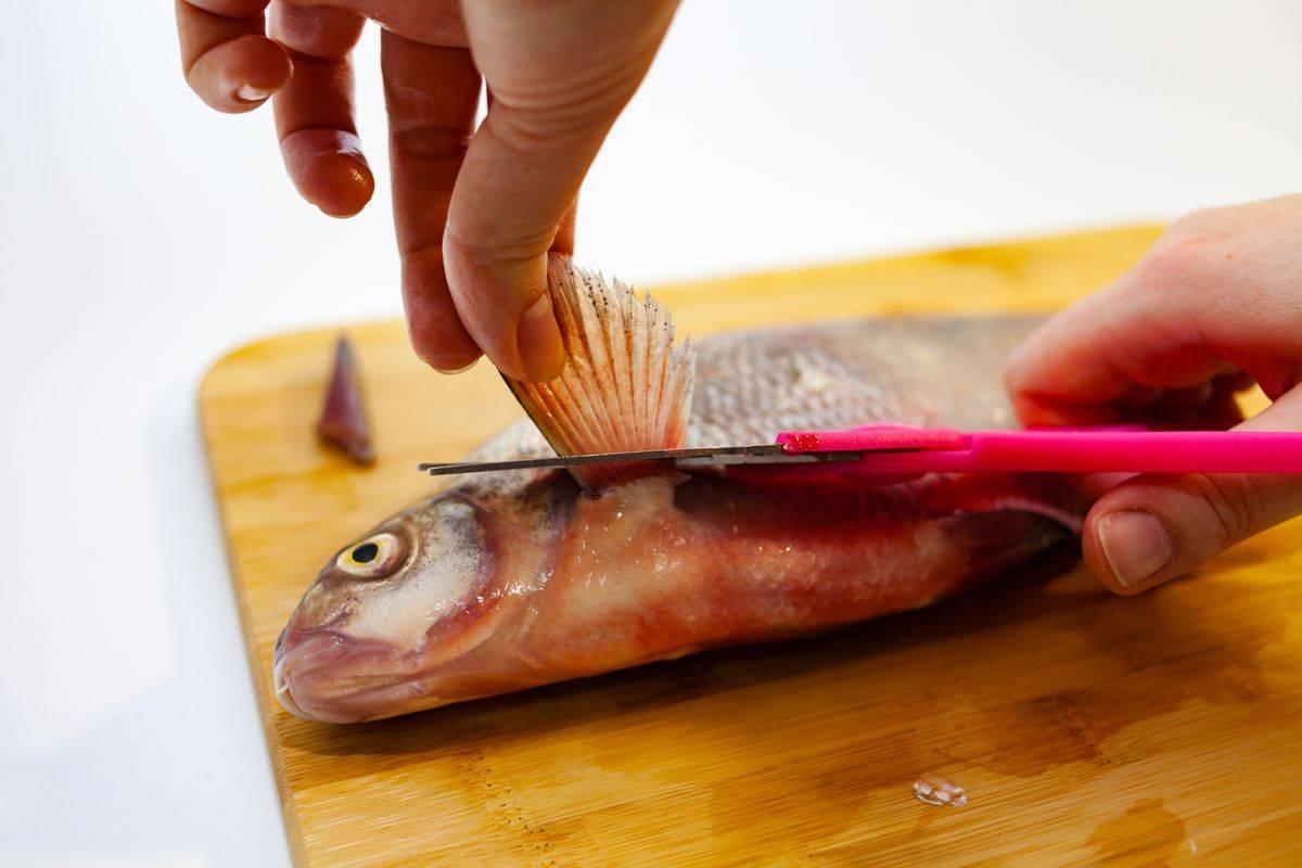 Come togliere le pinne al pesce