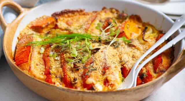Zucca gratinata al forno, una ricetta semplice ma golosa