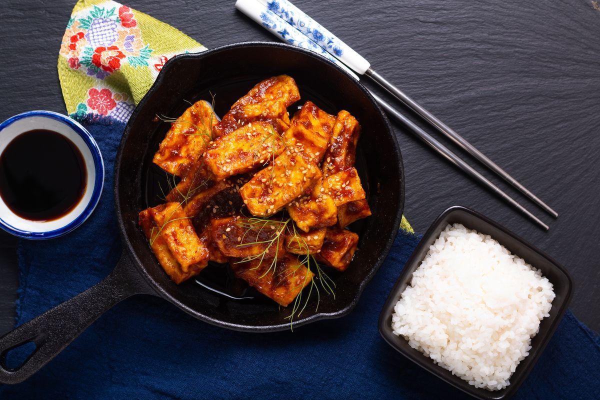 tofu alla piastra in salsa agrodolce