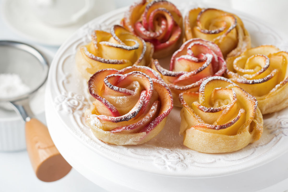 Rose di mele al miele