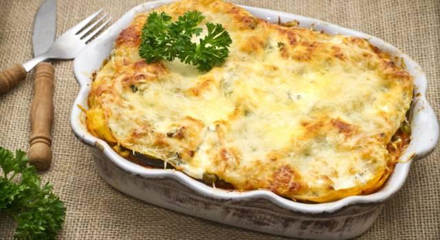 Lasagne di Natale di patate con formaggio e speck: ma che buone!