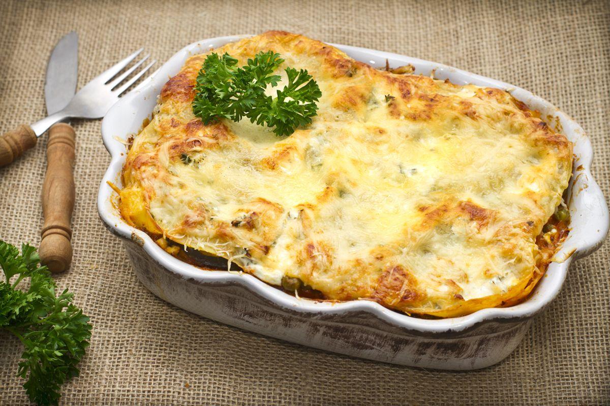 Lasagne patate e formaggio