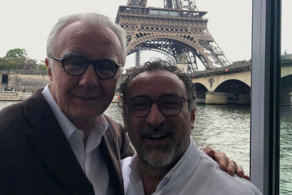 Lino Scarallo con Alain Ducasse