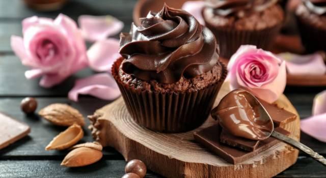 Cupcake dell'amore con mousse alla Nutella per San Valentino