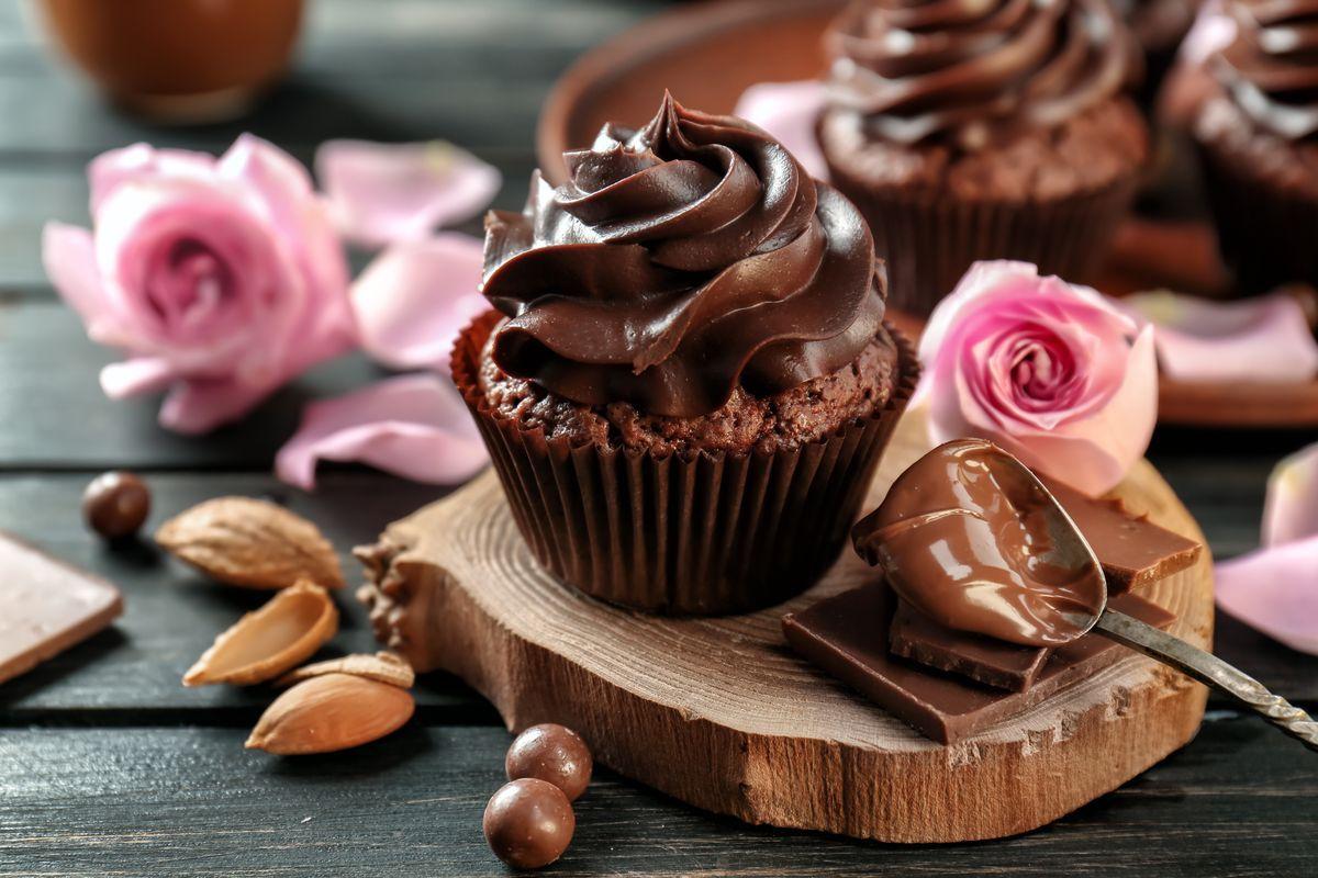 Cupcake con mousse alla Nutella