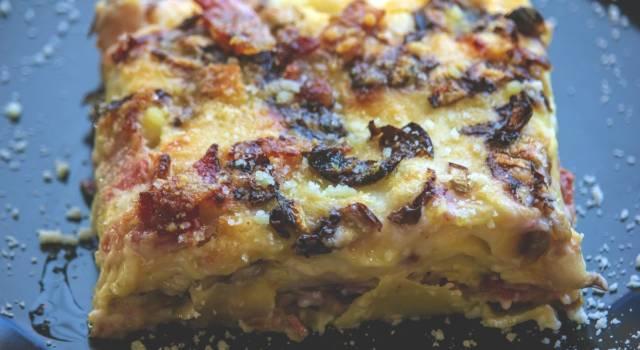 Lasagne al radicchio con besciamella cremosa