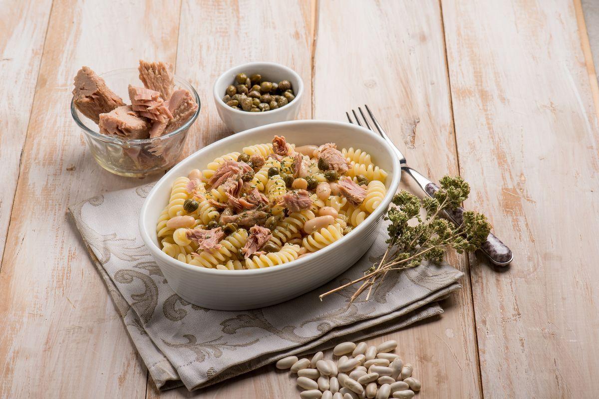 Pasta fagioli e tonno