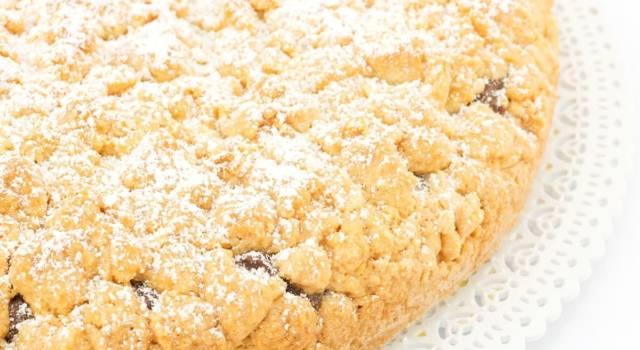 La ricetta della torta sbriciolata alla Nutella