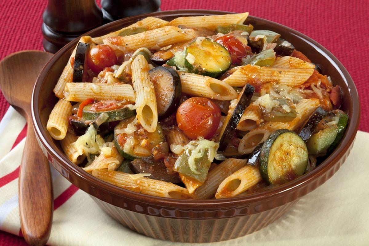 Pasta con verdure trifolate