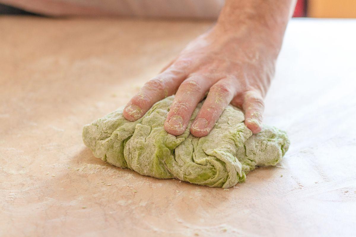 impasto verde con moringa