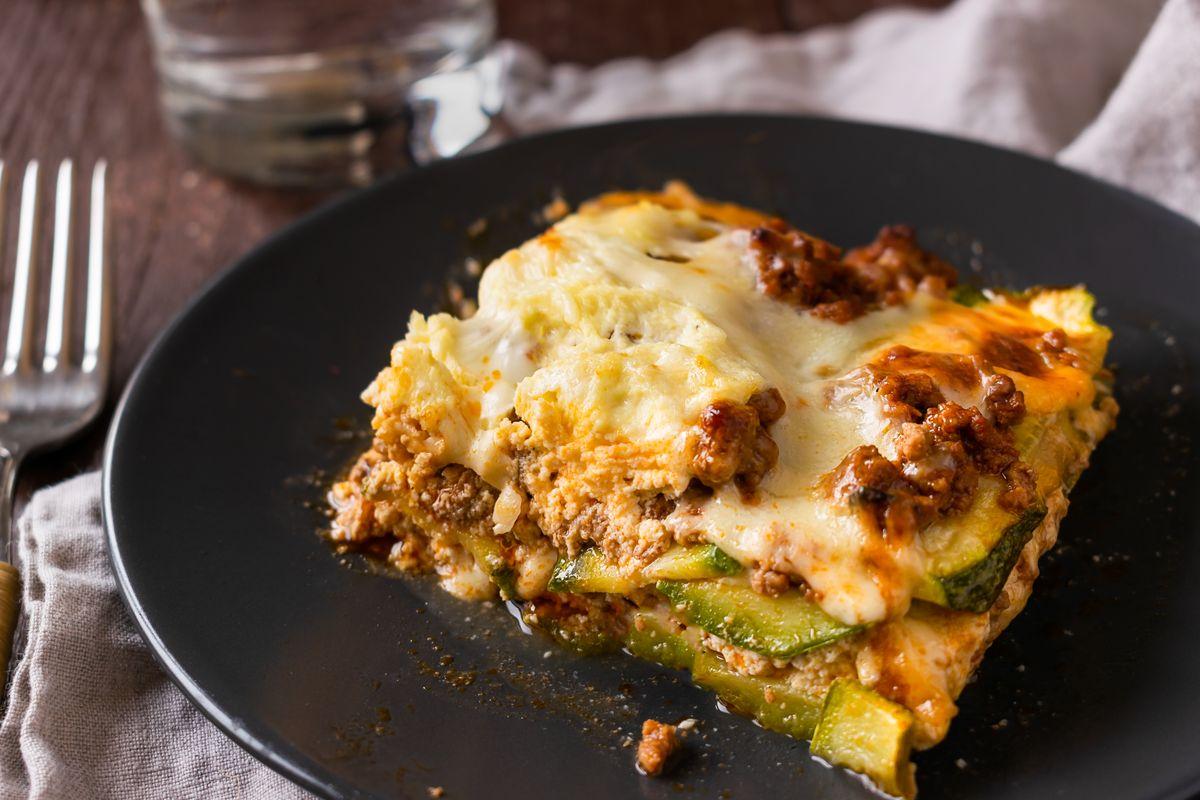 lasagne di zucchine al ragù