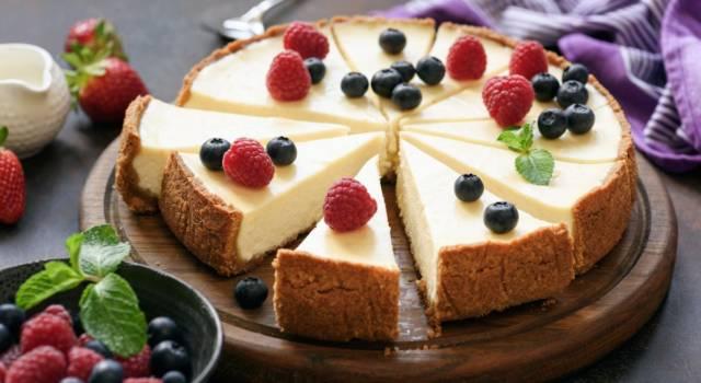 Cheesecake al philadelphia senza cottura