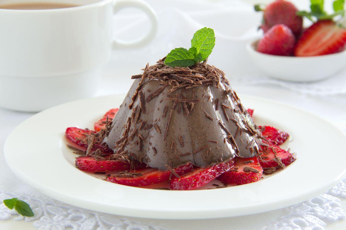 Budino senza zucchero al cioccolato