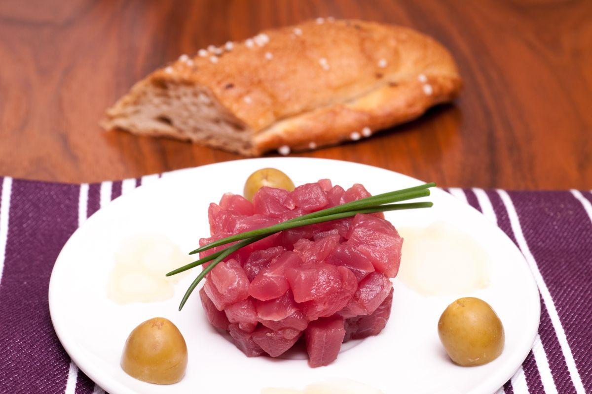tartare di tonno con zenzero