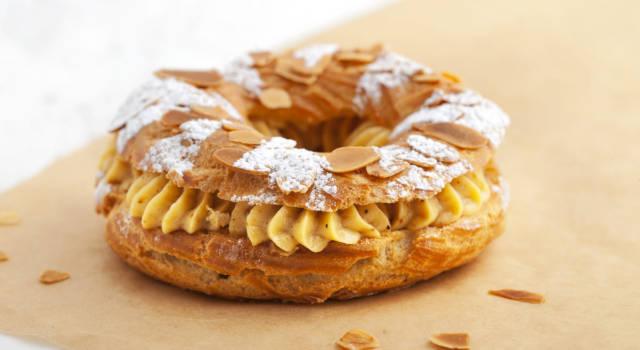 Nato per celebrare una corsa ciclistica, il Paris Brest è un dolce tipico francese