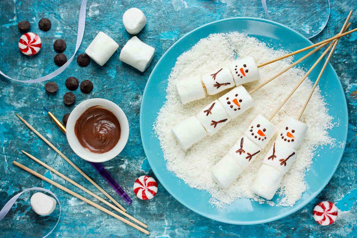 Marshmallow pupazzo di neve
