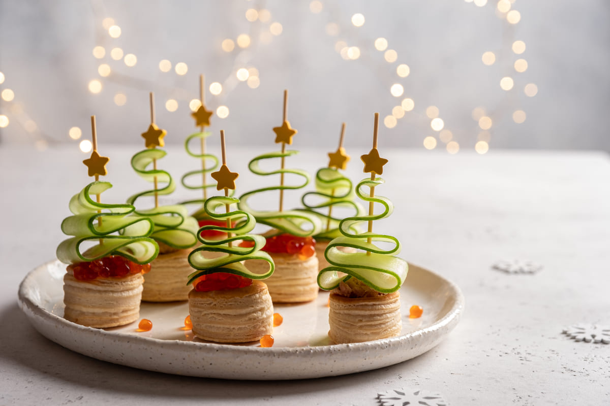 Salatini ad albero di Natale