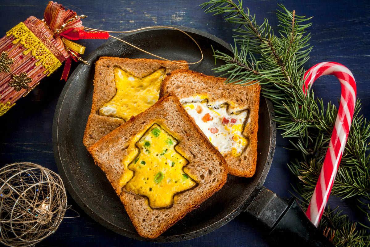 Toast ad albero di Natale
