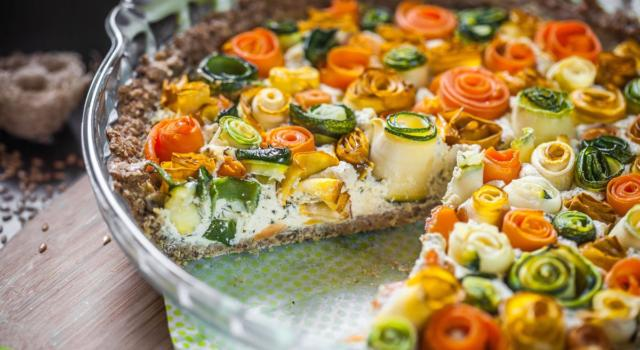 Torta di rose di verdure: un piatto davvero scenografico!