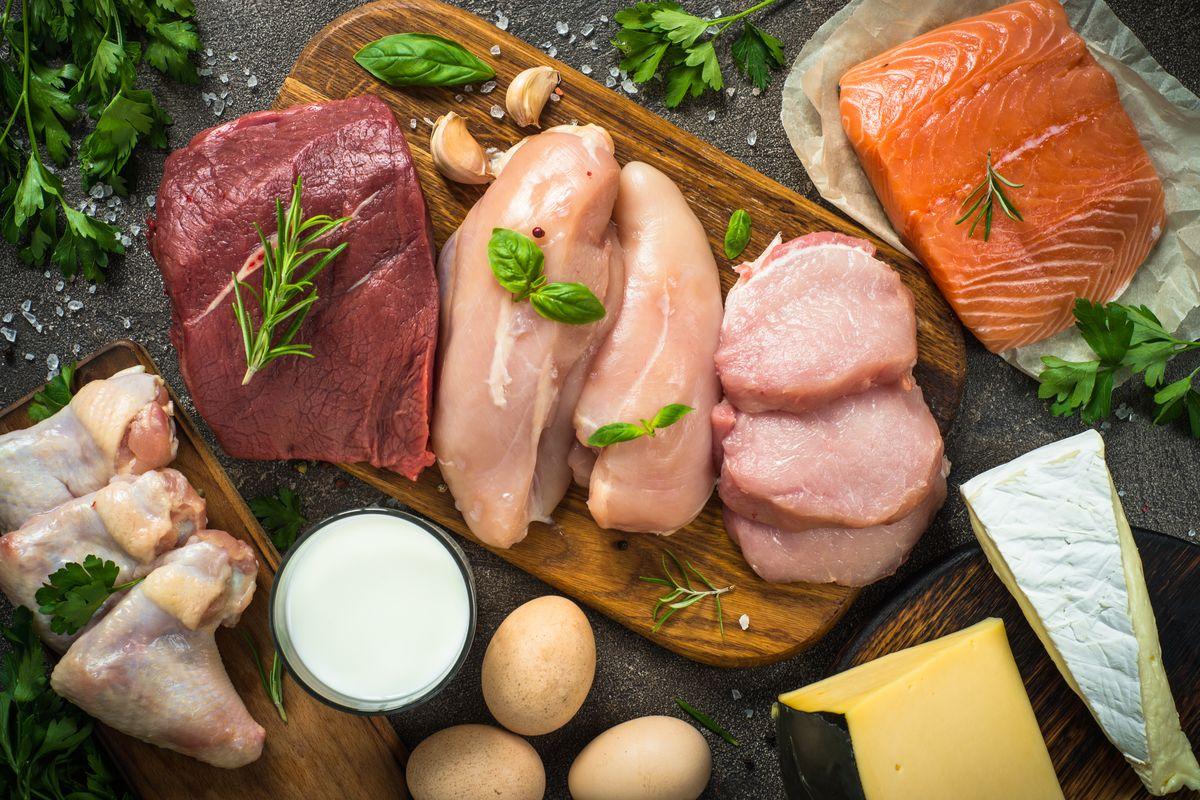 Carne pesce e formaggio