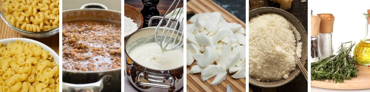 ingredienti della pasta al forno