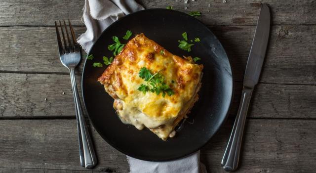 Lasagne alla valdostana con Fontina DOP e pancetta affumicata