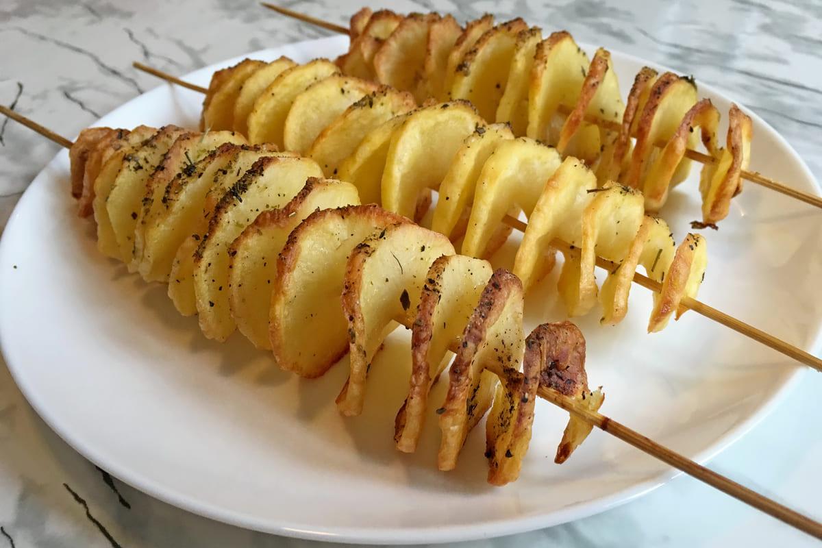 patate a spirale fritte