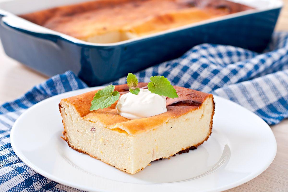 torta cremosa alla ricotta e panna