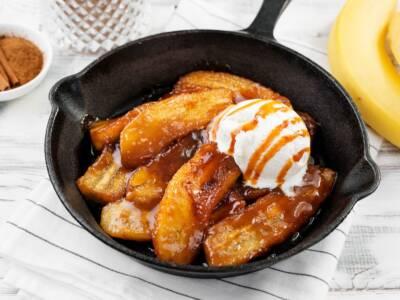 Banane caramellate: un dessert goloso pronto in pochi minuti