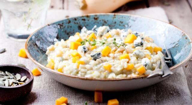 Cremoso e buonissimo il nostro risotto zucca e gorgonzola!