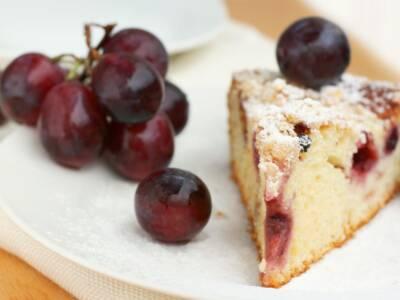 Davvero particolare questa torta all'uva!