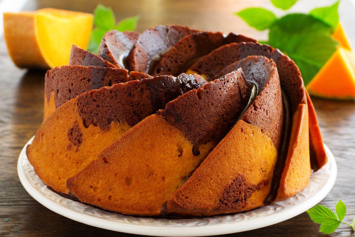 Torta zucca e cioccolato