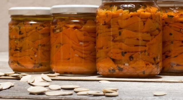 Zucca sott'olio: come realizzare la conserva fatta in casa