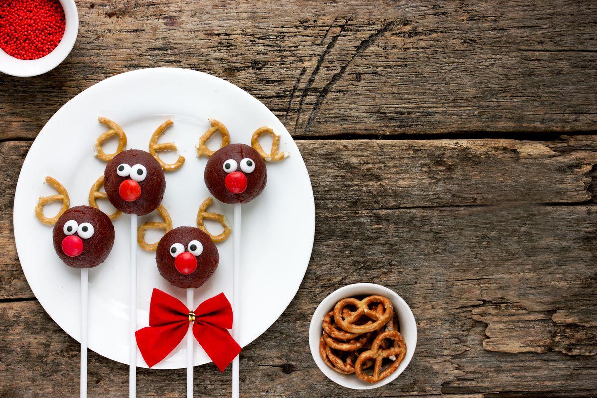 Cake pops natalizi renna