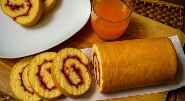 Bello e buono il rotolo di pan di Spagna