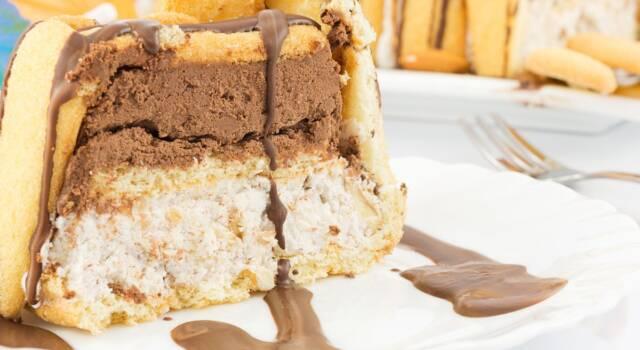 Torta Pavesini paradiso e Nutella: il dolce freddo con un doppio strato di crema