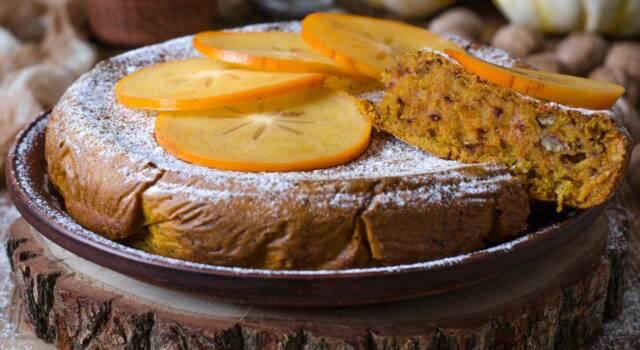 Torta di cachi senza glutine: incredibilmente soffice